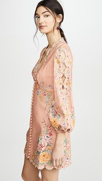 Zimmermann Zinnia Scallop Mini Dress