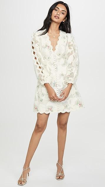 Zimmermann Zinnia Appliqué Mini Dress