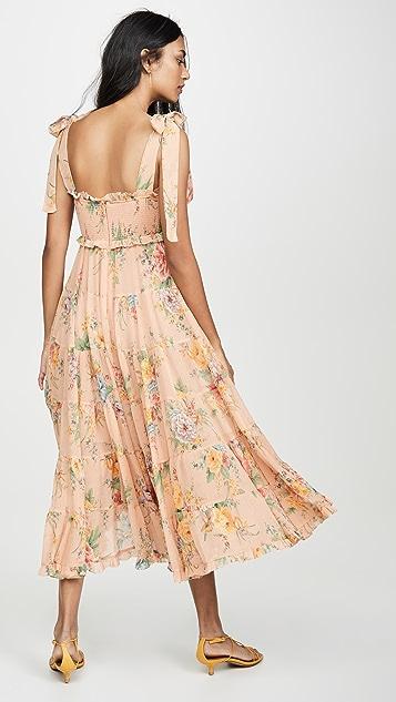 Zimmermann Многоуровневое платье Zinnia