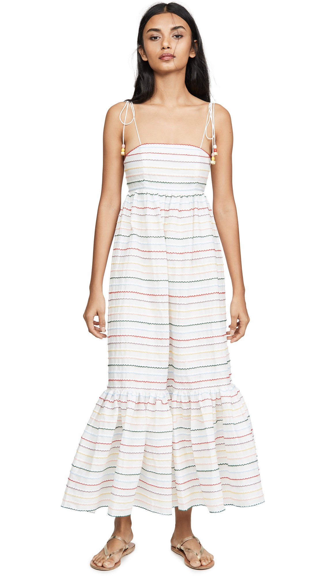 Zimmermann Zinnia Scallop Stripe Sundress
