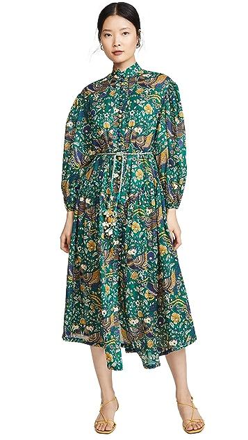 Zimmermann Edie Drop Waist Long Dress