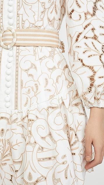 Zimmermann Edie 刺绣连衣裙