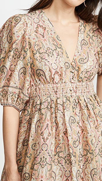 Zimmermann Freja Shirred Waist Dress