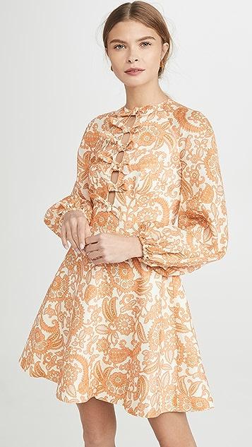 Zimmermann Peggy 扇贝饰边短连衣裙