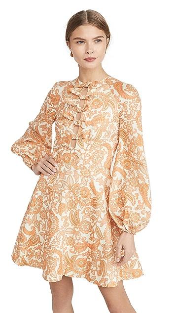 Zimmermann Peggy Scallop Short Dress