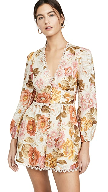 Zimmermann Bonita Button Through Romper