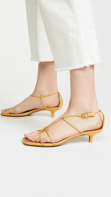 Zimmermann Strappy Kitten Heel Sandals
