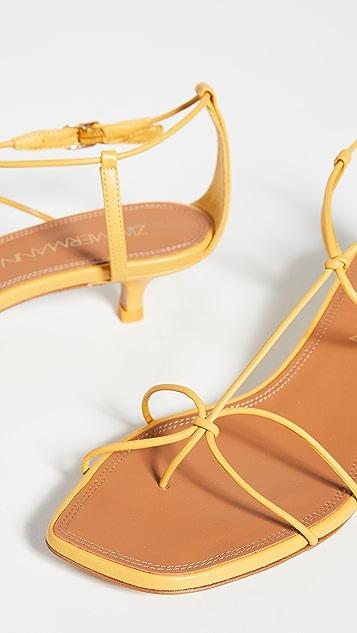 Zimmermann Босоножки на низком каблуке с ремешками