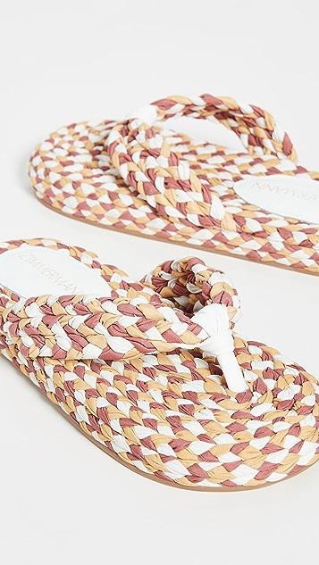 Zimmermann 棉质编织凉鞋