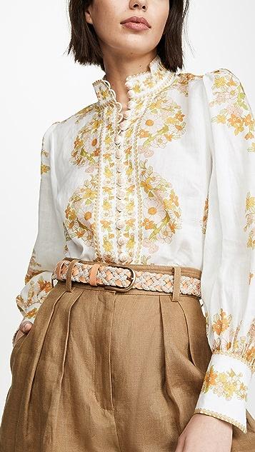 Zimmermann Плетеный ремень из кожи и шнуров