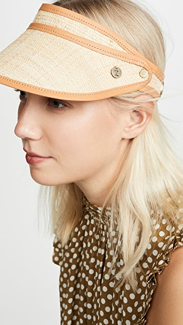 Zimmermann 草编条纹鸭舌系带帽