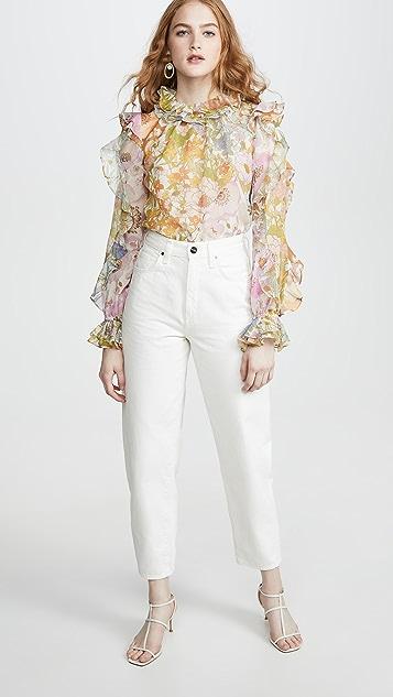 Zimmermann Рубашка Super Eight с оборками