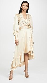 Zimmermann Super Eight Wrap Midi Dress