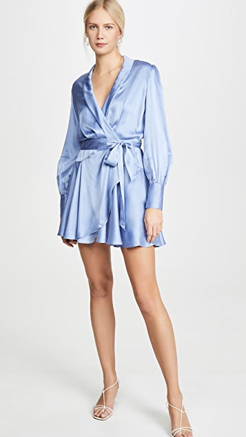 Zimmermann Super Eight Wrap Mini Dress