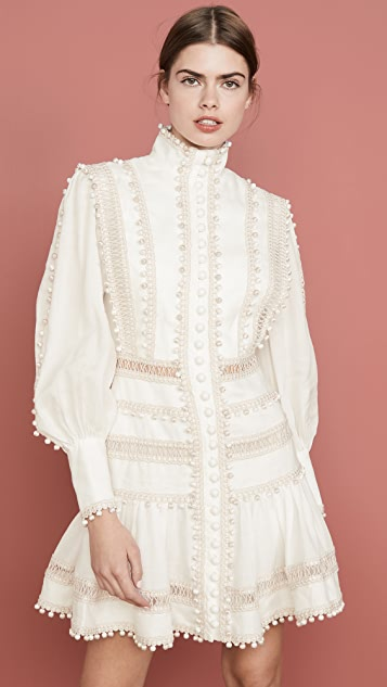 Zimmermann Мини-платье Super Eight с отделкой шнуром