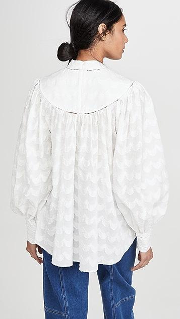 Zimmermann Wavelength 汤匙领抵肩女式衬衫