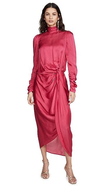 Zimmermann 长袖垂坠皱褶连衣裙