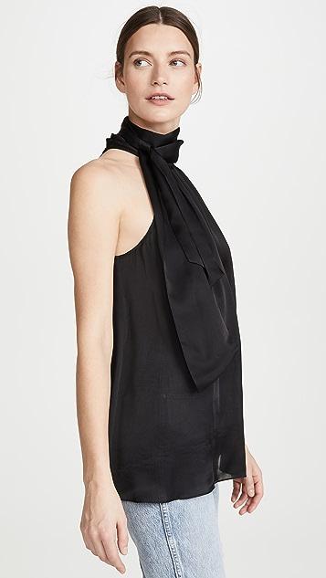 Zimmermann 褶皱蝴蝶结女式衬衫