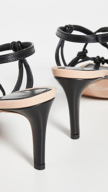 Zimmermann Knotted Strap Heeled Sandals