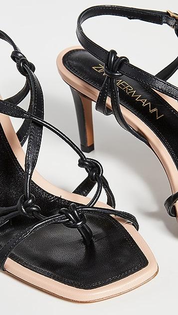 Zimmermann 结饰固定带高跟凉鞋