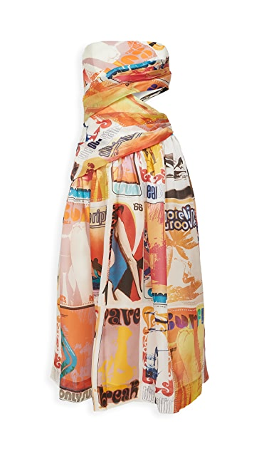 Zimmermann Brightside 裹身中长连衣裙