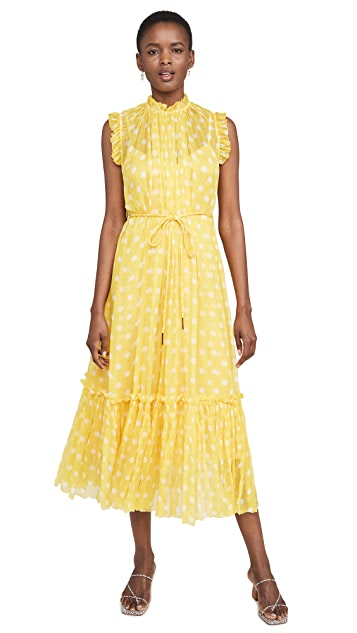 Zimmermann Brightside Frilled Midi Dress