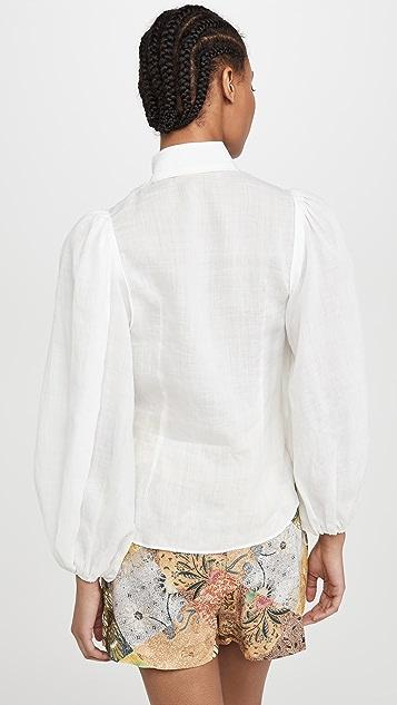Zimmermann Brightside 滚边女式衬衫