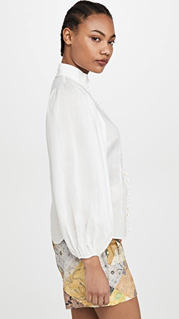 Zimmermann Brightside Piped Body Blouse