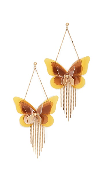 Zimmermann Butterfly Tassel Earrings
