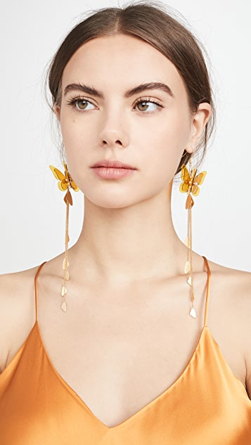 Zimmermann Butterfly Drop Earrings