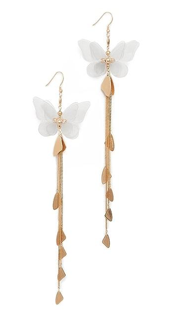 Zimmermann Серьги-капли Butterfly