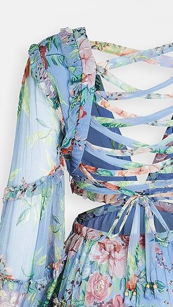 Zimmermann Bellitude Floating Cutout Dress