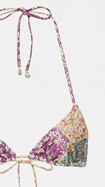 Zimmermann Carnaby Spliced Tri Bikini Set