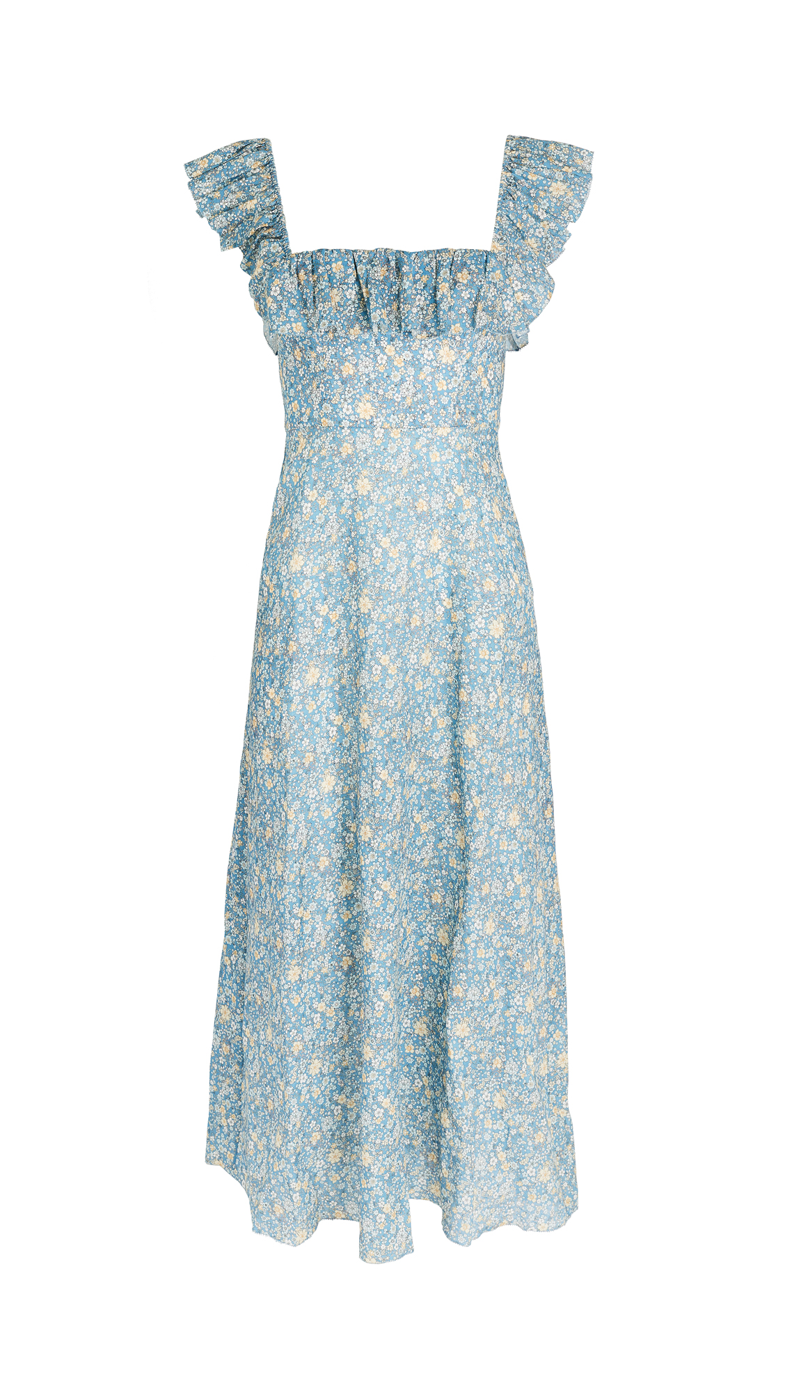 Zimmermann Carnaby Ruffle Neck Long Dress