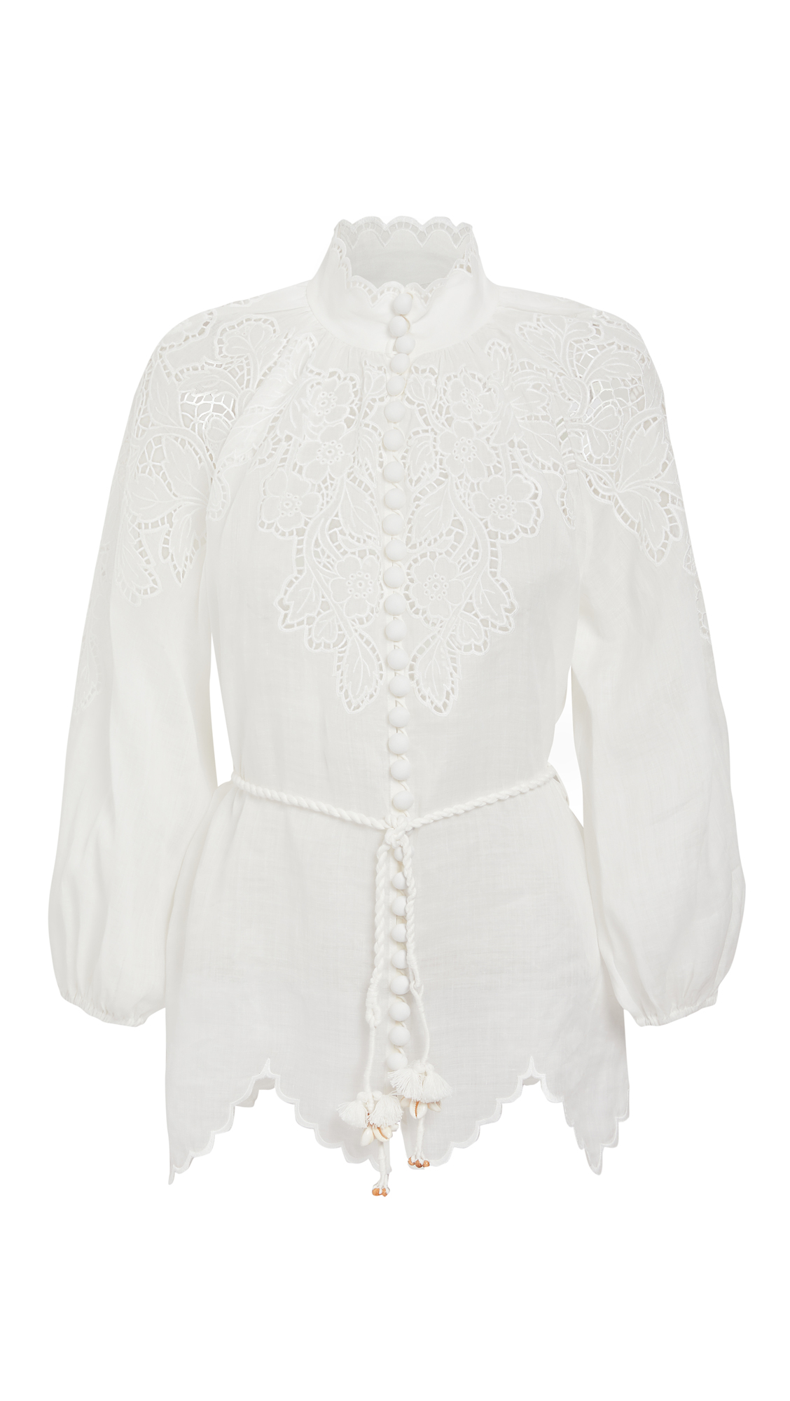 Zimmermann Carnaby Scallop Blouse