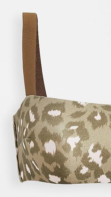 秋季新品上线 Carnaby 豹纹比基尼套装