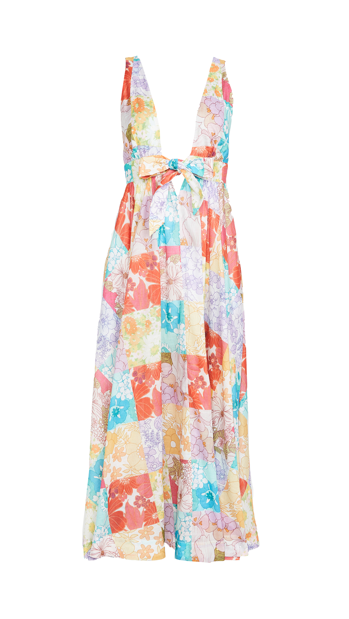 Zimmermann Bells Tie Front Long Dress
