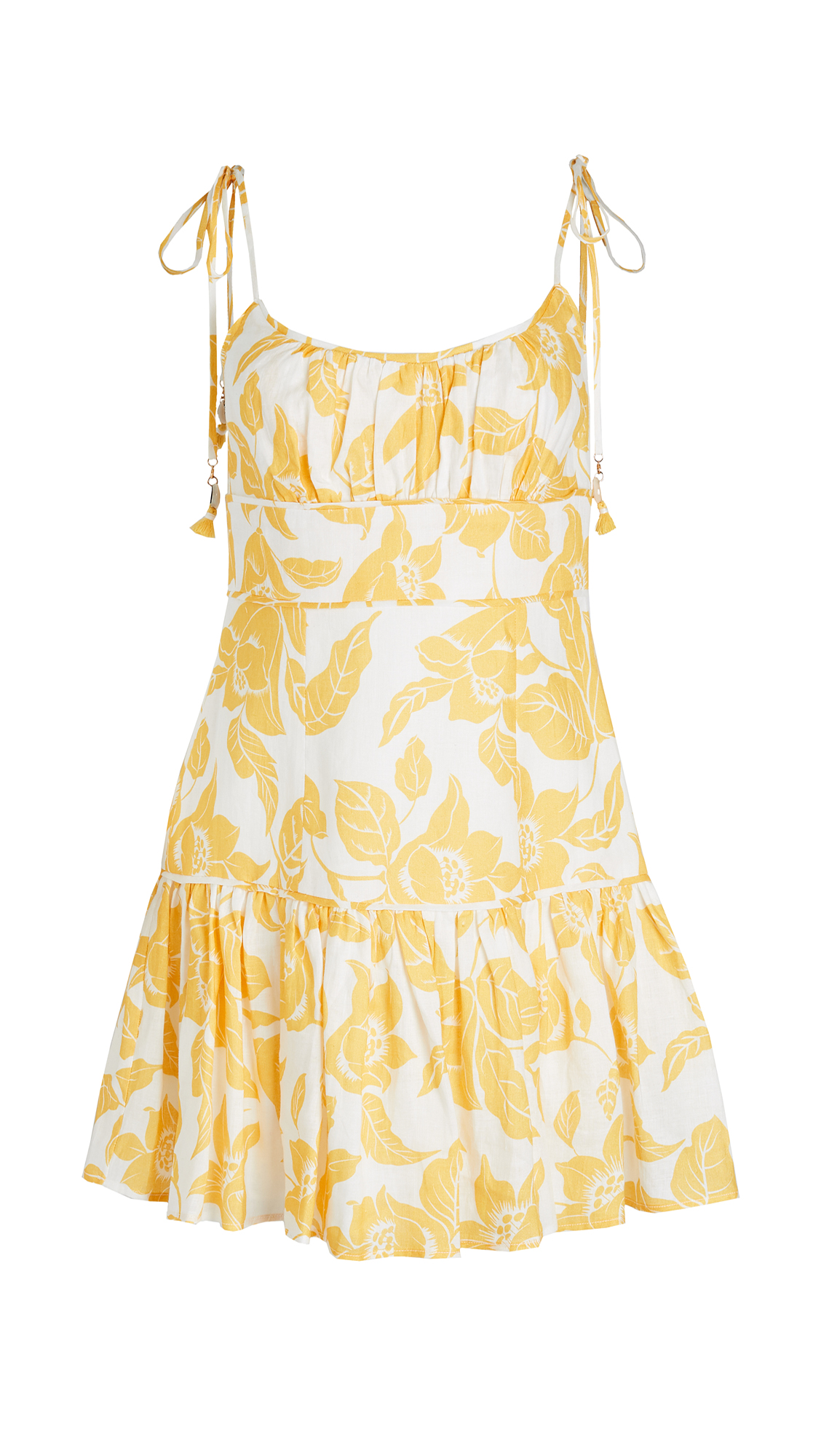 Zimmermann Bells Fit Flare Mini Dress