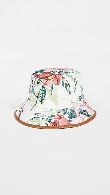 Zimmermann Reversible Linen Bucket Hat