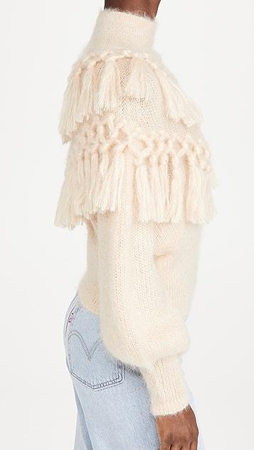 秋季新品上线 Ladybeetle 马海毛流苏毛衣