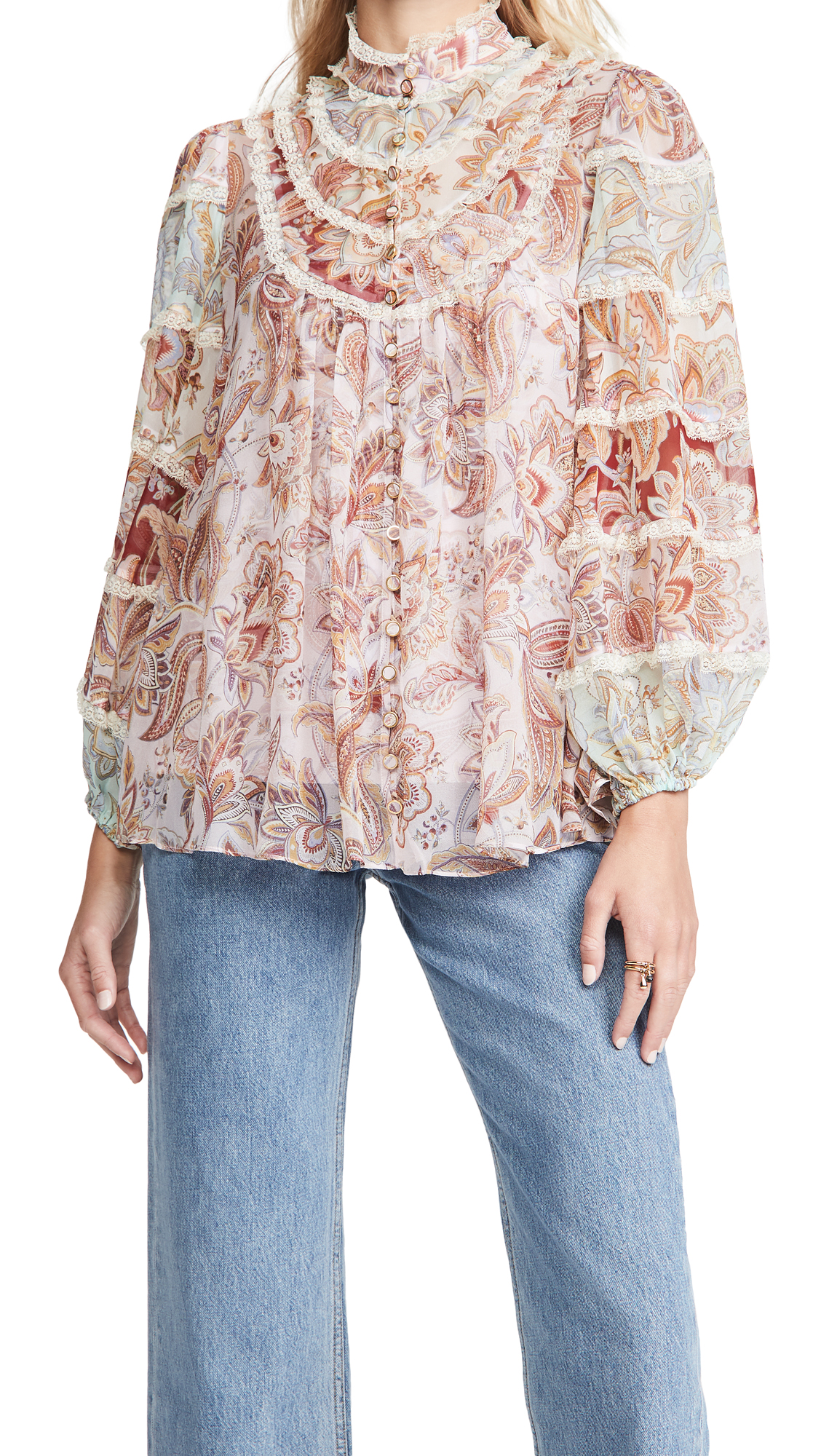 Zimmermann Ladybeetle Spliced Blouse