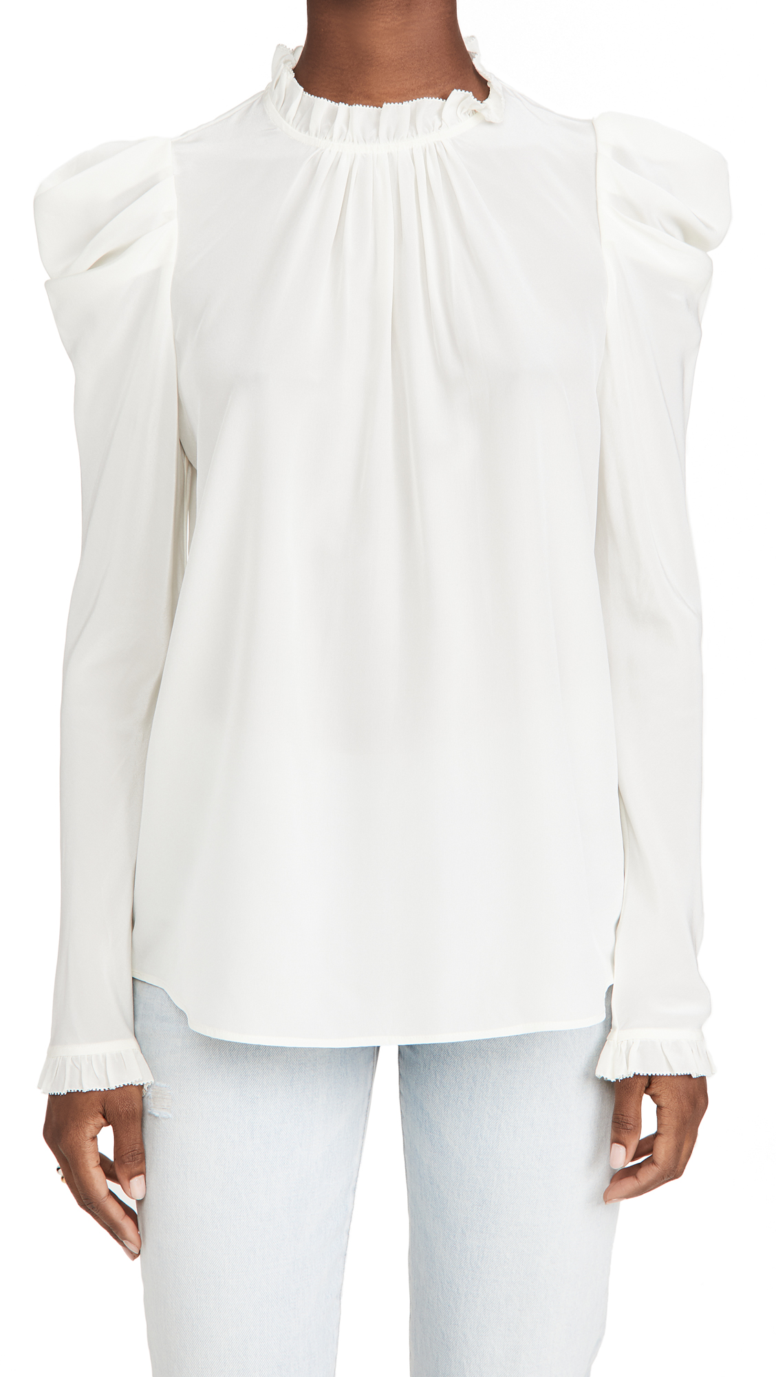 Zimmermann Silk Drape Shoulder Blouse