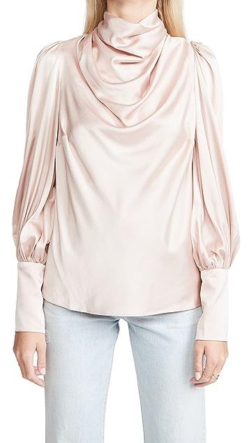 Zimmermann 真丝垂褶女式衬衫