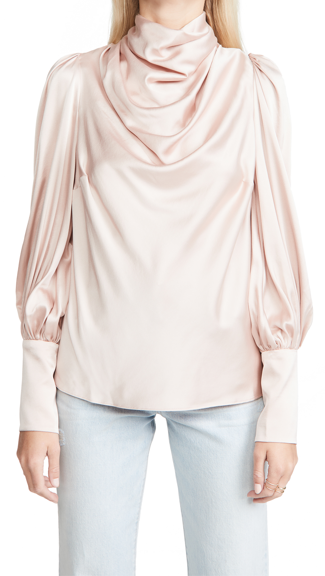 Zimmermann Silk Cowl Blouse