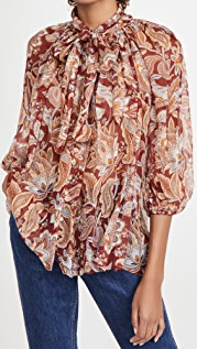 Zimmermann Charm Fluted Blouse