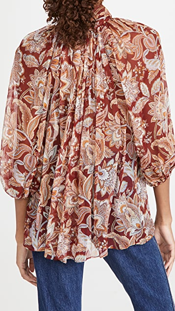 Zimmermann Charm Fluted 女式衬衫