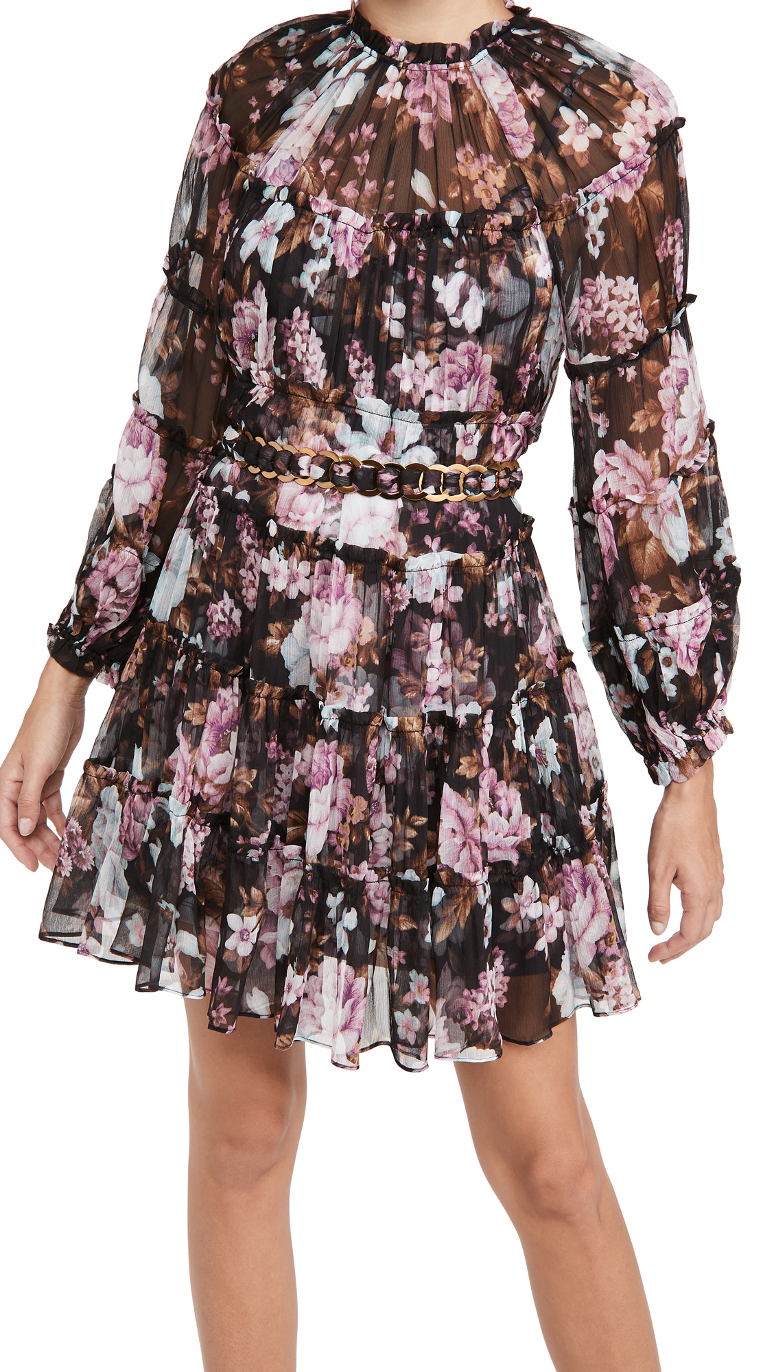 Zimmermann Charm Tiered Mini Dress
