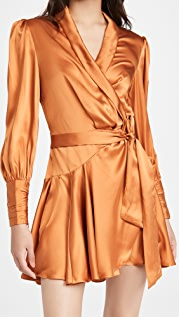 Zimmermann 真丝围裹式迷你连衣裙