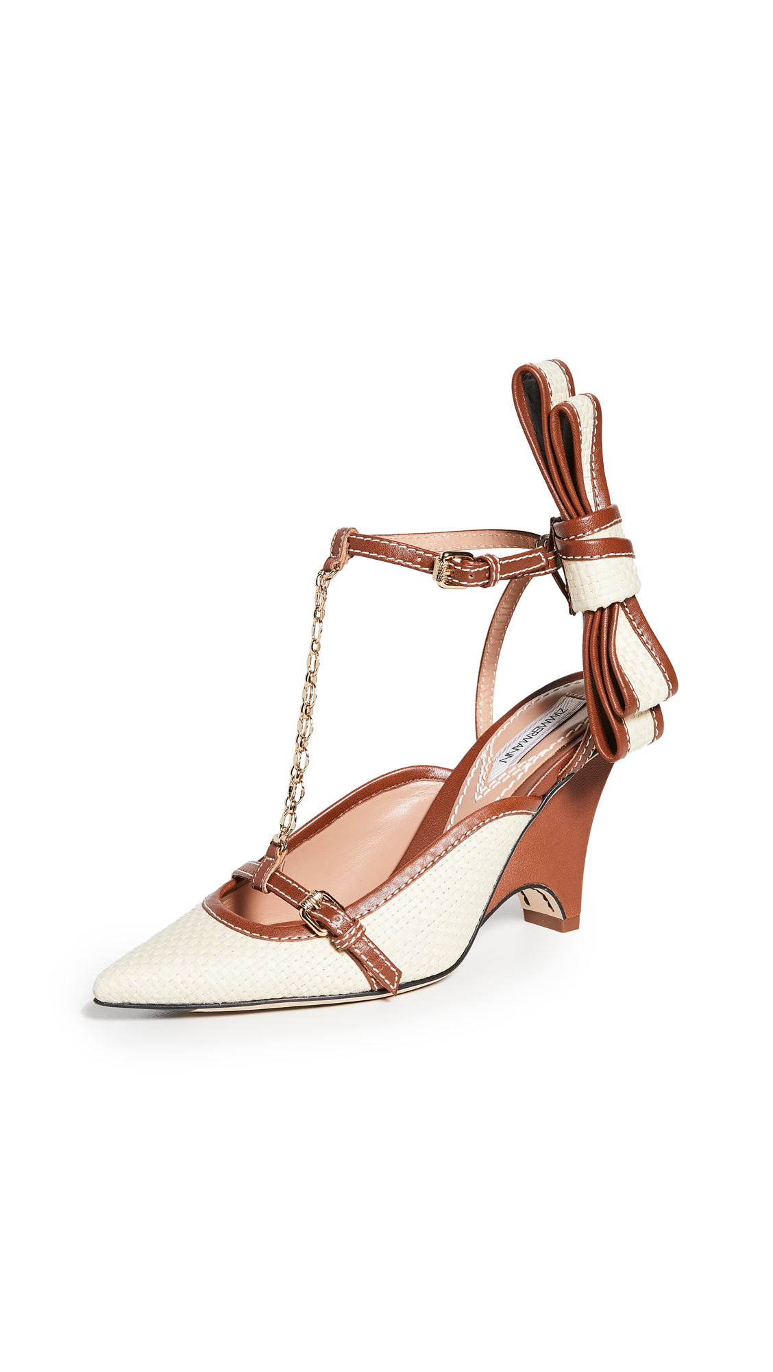 Zimmermann Bow Wedge Pumps