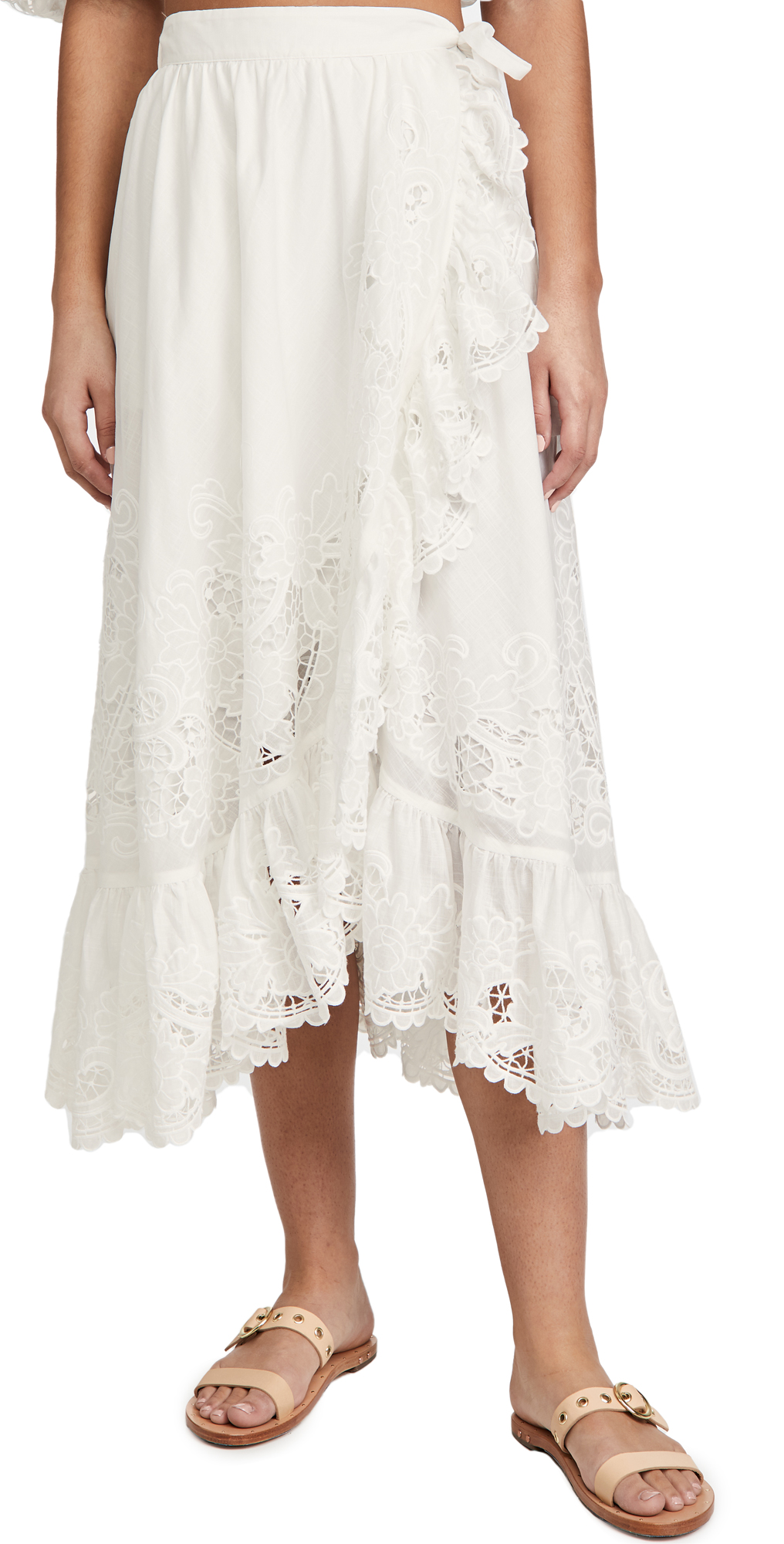 Zimmermann Lulu Scallop Wrap Skirt